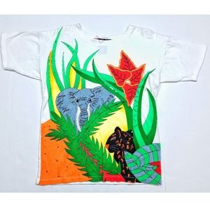 Jungle Elephant Panther Safari Large Prints Shirt